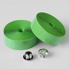 2PCS Cycling Road Bike Bicycle Cork Handlebar Bar Grip Wrap Tape + 2 Bar Plugs