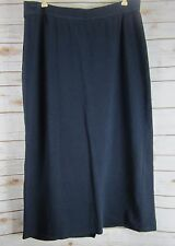 NEWPORT NEWS Womens Navy Blue Long Cotton Knit Maxi Skirt Modesty Plus 3X