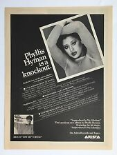 PHYLLIS HYMAN...1979  Original Promo Poster Ad 11X14.5 Inches Near Mint