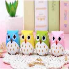 Cute Stationery Mini Owl Pattern Pencil Eye Pen Pencil Sharpener For School KidG