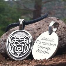 *Celtic Bear Strength Limited Edition Pendant Necklace Wiccan Pagan Jewelry CS3