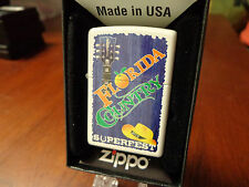 FLORIDA COUNTRY MUSIC SUPERFEST 2015 WHITE MATTE ZIPPO LIGHTER MINT IN BOX