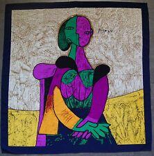 foulard carré en crêpe de soie PICASSO  89 cm x 87 cm