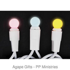 Darice Mini Globe Lights Pink Blue Yellow - White Cord for Easter Baby Shower