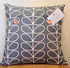 Orla Kiely **LINEA STEM**  Cool Grey Cotton  Cushion Cover 40cm