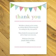 30 Personalised Thank you cards girl boy vintage