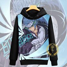 Anime Bleach Grimmjow Unisex Hoodie Jacket Pullover Coat Sweatshirt#63-X-48