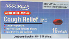 Adult Long Lasting COUGH RELIEF Non-Drowsy Generic Robitussin 15 Softgels
