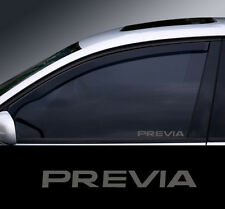 2 x Toyota Previa Etched Glass Effect Window Decal, Sticker, Graphic
