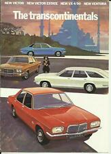 VAUXHALL VICTOR, VX 4/90 AND VENTORA SALES BROCHURE  FEBRUARY 1972