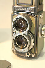 Vintage Rolleiflex 4x4 TLR Camera Grey Colour w Schneider Xenar f/3.5 60 mm lens