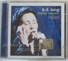 K.D. LANG - LIVE BY REQUEST - CD Sigillato