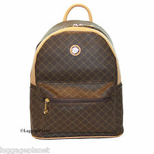 Rioni Round Dome Travel Daypack Backpack Unisex - Signature Brown ST-20286