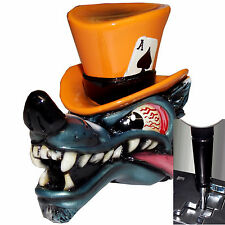 Orange Wolf Top Hat shift knob w/ black adapter for automatic shifters See desc.