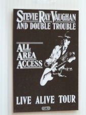 Stevie Ray Vaughan Laminated ALL AREA ACCESS Tour Pass, Live Alive Tour