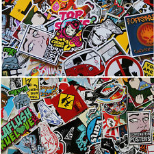 20 mix skateboard stickers laptoped snowboard car surf bicycle vinyl decal !