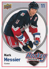 09/10 UPPER DECK HOCKEY HEROES MARK MESSIER RANGERS #HH25 *9062