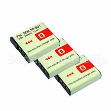 3 Battery for SONY NP-BG1 FG1 G Type Cybershot DSC-H7 DSC-H9 DSC-H10 HDR-GW77