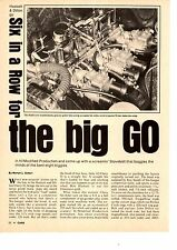 1962 CHEVY II H/MODIFIED / SIX WITH TRI-POWER  ~  ORIGINAL 3-PAGE ARTICLE / AD