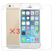 6 Pcs=3 x (Front+Back) Anti-Glare Matte Screen Protector Guard For iPhone 5 5S