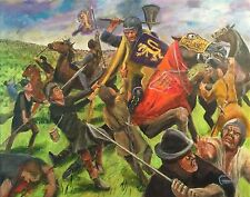 "LEON GOODMAN ORIGINAL OIL  ""Battle of Bannockburn"" Robert the Bruce  PAINTING"