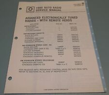 GM Delco 1988 Auto Radio Buick Toronado Remote Head Service Manual 27D-1988-3B