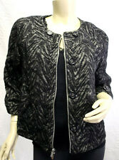 "$378 BCBG BLACK COMBO ""TARA"" 3/4 SLEEVE COTTON/WOOL JACKET TOP NWT XS"