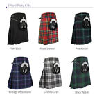 Mens Traditional 5 Yard Party Kilt, Various Tartan Kilts, Sizes 30-48