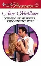 One-Night Mistress...Convenient Wife (Harlequin Presents), Anne Mcallister, 0373