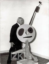 JOAN MIRO Sculpture Céramique Peinture Artigas MAEGHT Vence Photo 1970s
