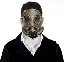 Mens victorian steampunk masque gaz latex déguisement halloween costume mask new