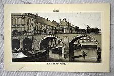 """CPA """" LILLE - Le Grand Pont *** carte postale publicitaire ***"""