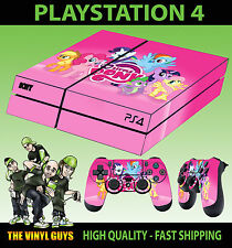 PS4 Skin My Little Pony Pink Group Rainbow Dash Sticker + Pad decal Vinyl LAID