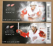 Red Wings Danny DeKeyser & Justin Abdelkader Game ticket stubs 2015