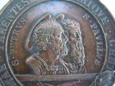 Médaille religieuse bronze St Pierre St Paul 1867 Romae parentes arbitrique gent