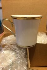 Lenox Eternal Mugs Wesley Shape Dimension Collection Ivory Gold Trim Set Of 4