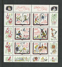 GERMANY DDR 1985 BROTHERS GRIMM FAIRY TALES SOUVENIR SHEET SCOTT CAT# 2515 MNH