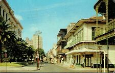 Vintage Postcard - Royal Street Showing Mall of Justice, New Orleans - 1958