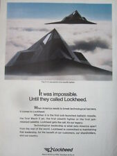 1/1992 PUB LOCKHEED F-117A STEALTH FIGHTER US AIR FORCE ORIGINAL AD