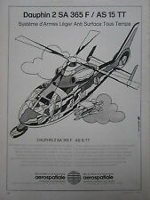 11/80 PUB AEROSPATIALE HELICOPTERE DAUPHIN 2 SA 365 F MISSILE AS 15 TT FRENCH AD