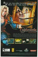 NINTENDO DS Konami CASTLEVANIA PORTRAIT OF RUIN video game print ad page