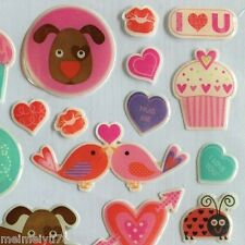 3D Dimensional Epoxy Love Birds Cupcake Owl Frog Prince Bee Mine Heart Stickers