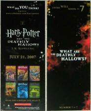 HARRY POTTER ~ DEATHLY HALLOWS ~ SCHOLASTIC BOOKMARK ~ CHEAP US SHIPPING!