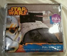 Disney Star Wars the force awakens full sheet set storm Trooper Darth Vader NIP