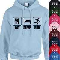 EAT, SLEEP, RUN HOODIE ADULT/KIDS - PERSONALISED - TOP RUNNING JOG GIFT XMAS