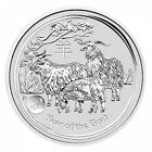2015 Australian Perth Mint Lunar Goat with Lion Privy 1oz .999 Silver Coin