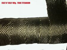 "100' TWO Rolls TRUE TITANIUM 2""X50' Header/Exhaust Wrap w/18 Ties V8/Rat/Hot Rod"