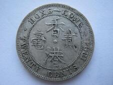 Hong Kong 1894 silver 20 Cents, VF.