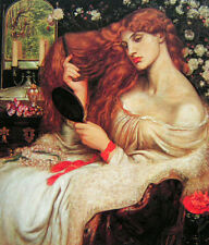 Fine Oil painting J. W. Waterhouse - Nice young lady Lilith in her toilet canvas