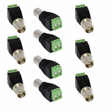 10pcs Coax Cat5 Cat6 CCTV Coaxial Camera BNC Female Jack Video Balun Connectors